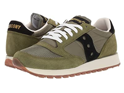 Saucony Originals Jazz Original Vintage (Olive/Black) Men