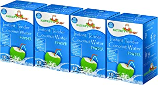 Nature's Guru Instant Tender Coconut Water Powder Original 10 Count Single Serve On-the-Go Drink Packets (Pack of 4)