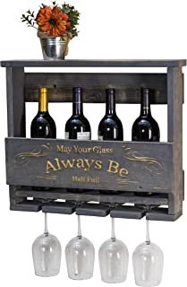 Del Hutson Designs Del Luxe Top Shelf Engraved Wine Rack (Grey)