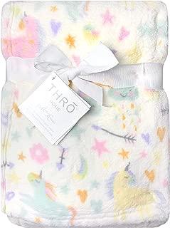 Thro Uma Unicorn Printed Loft Fleece Decorative Baby Throw Blanket, 30