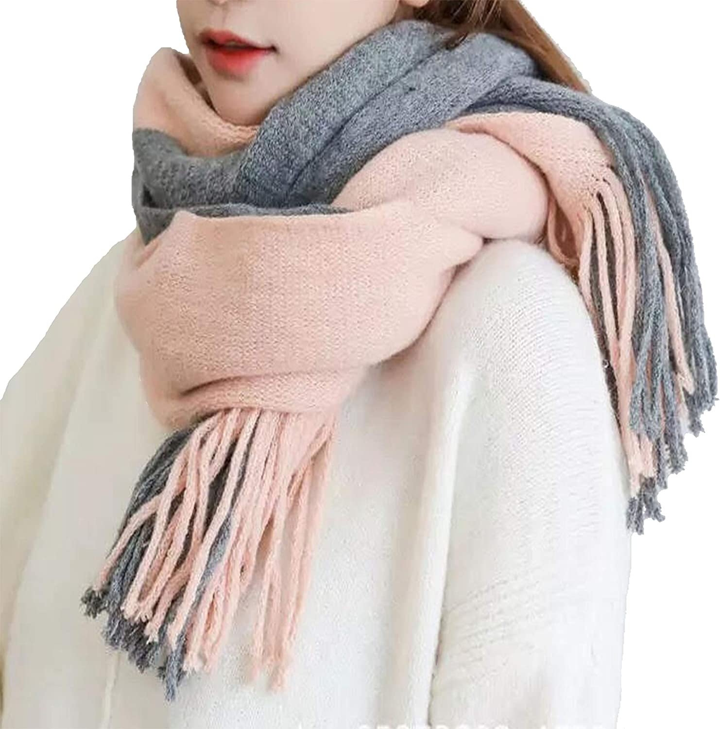 Kindred Home Striped Color Block Soft Winter Scarf