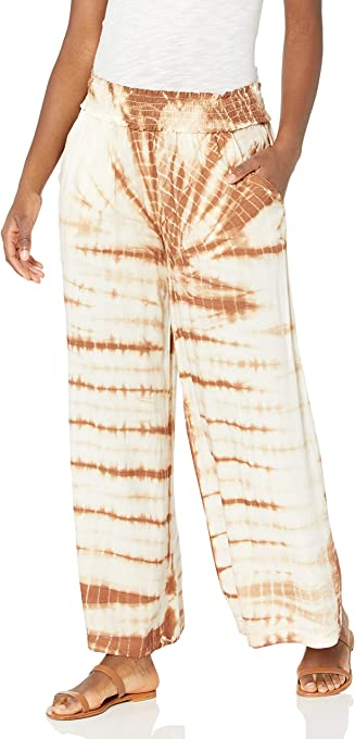 Jessica Simpson Women's Laine Smocked Pull on Wide Leg Pant