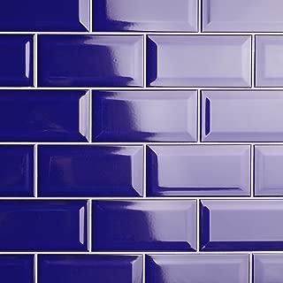 SomerTile WXRPSBRB Pente Subway Beveled Ceramic Wall, 3
