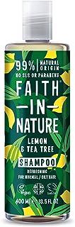 Faith in Nature Champú Natural de Limón y Árbol del Té Refrescante Vegano y No Testado en Animales sin Parabenos ni SLS...