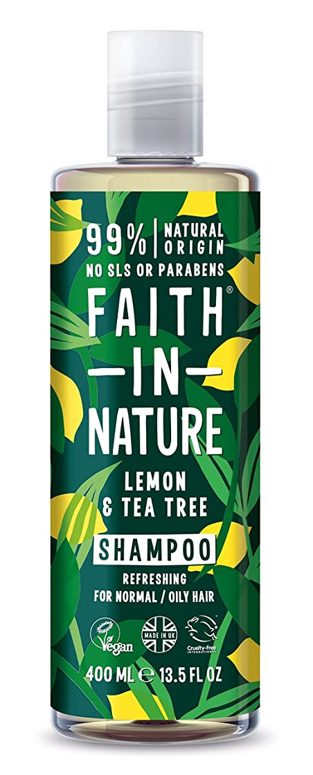設置死んでいる小切手Faith in Nature Anti-Dandruff Lemon & Tea Tree Shampoo 400ml - (Faith In Nature) 自然の中で信仰抗フケレモン&ティーツリーシャンプー400ミリリットル [並行輸入品]