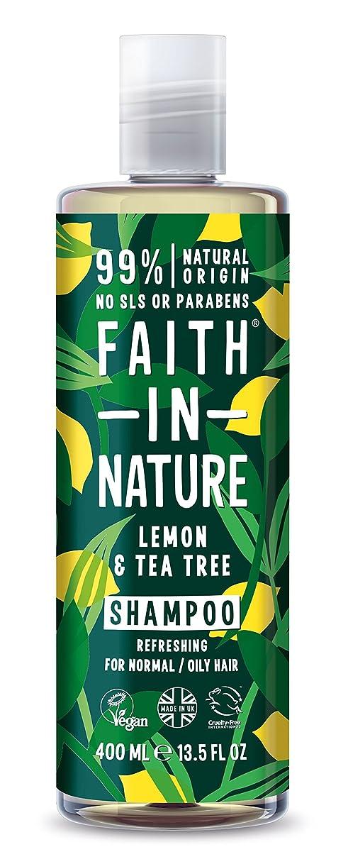 風が強い無駄な証言するFaith in Nature Anti-Dandruff Lemon & Tea Tree Shampoo 400ml - (Faith In Nature) 自然の中で信仰抗フケレモン&ティーツリーシャンプー400ミリリットル [並行輸入品]