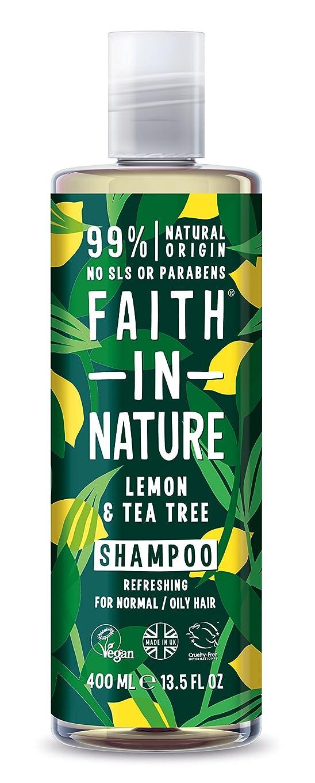 タブレットブーム癌Faith in Natureレモン & ティートリー シャンプー
