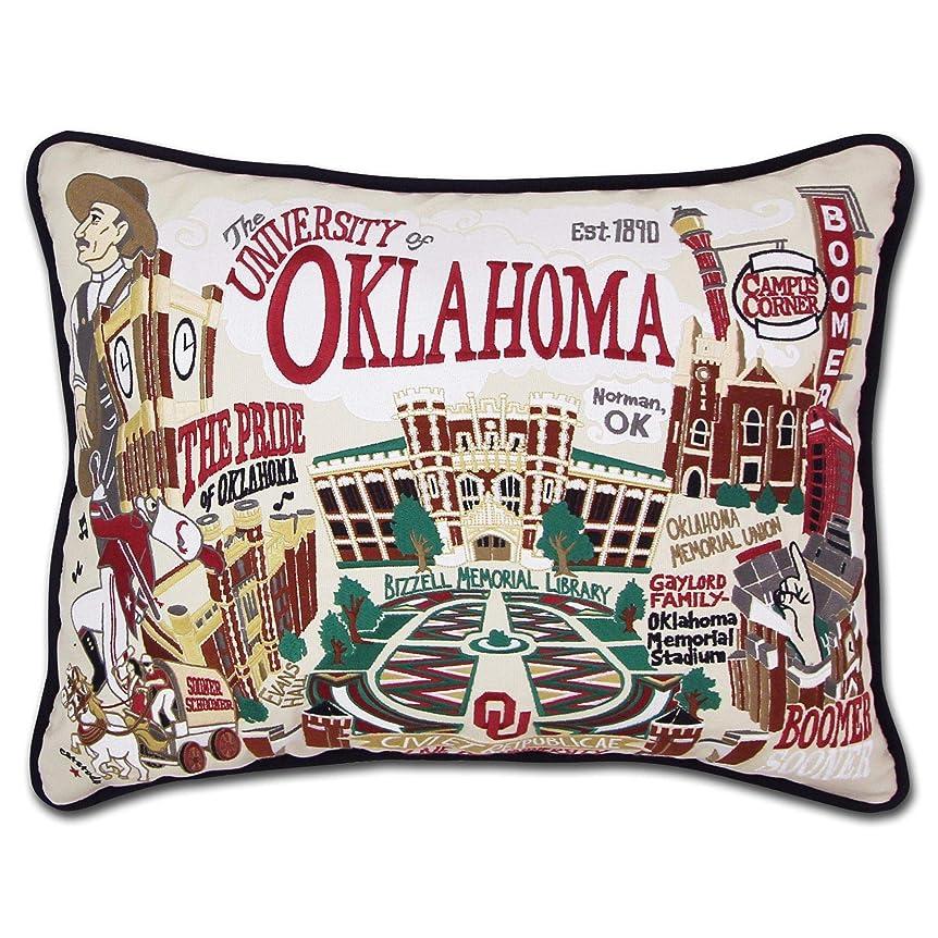二次バイバイ潤滑するオクラホマ州、大学のCollegiate刺繍枕?–?Catstudio