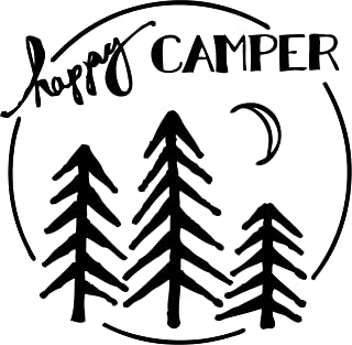 TDT Printing & Custom Decals The Happy Camper Vinyl Decal Sticker For Car or Truck Windows, Laptops etc.