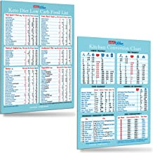 Useful Kitchen Gift Set: Keto Diet Low Carb Top 100 Food List + Kitchen Conversion Chart Magnets 8