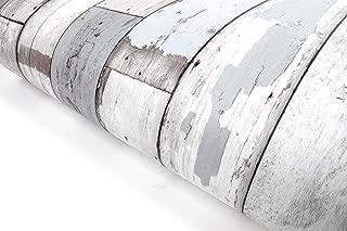 Reclaimed Wood Distressed Wood Panel Wood Grain Self-Adhesive Peel-Stick Wallpaper (VBS303)