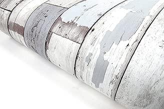 2Pack - Reclaimed Wood Distressed Wood Panel Wood Grain Self-Adhesive Peel-Stick Wallpaper (VBS303(2Pack))