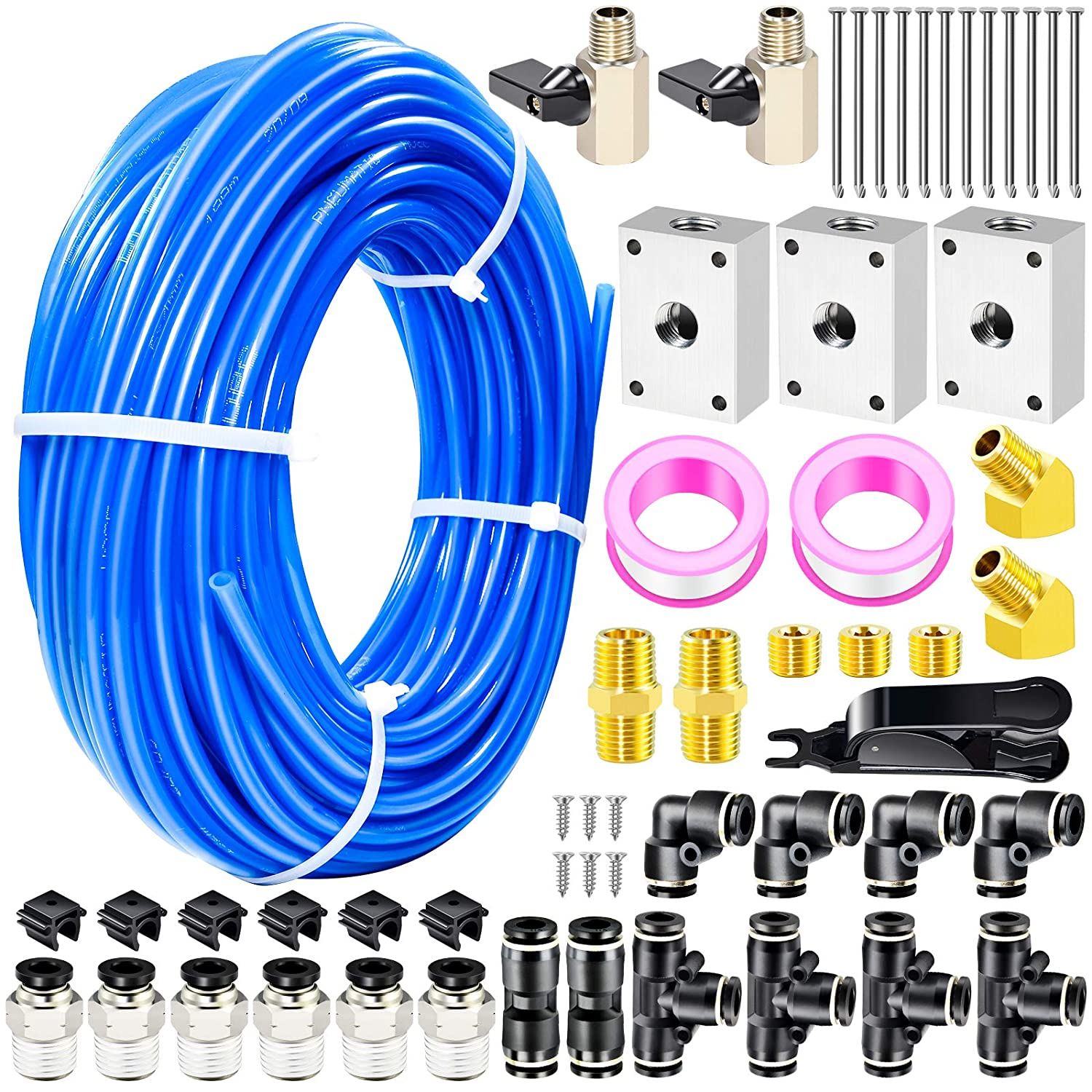 TAILONZ PNEUMATIC Blue 1 2 Inch Challenge the lowest price of Japan ☆ od PU Meter Air Fort Worth Mall Tubing 100ft 32
