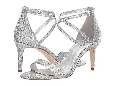 MICHAEL Michael Kors Ava Mid Sandal (Silver) Women