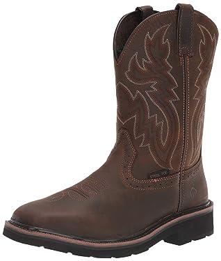 "Wolverine Men's Rancher 10"" Square Toe Steel Toe Work Boot"