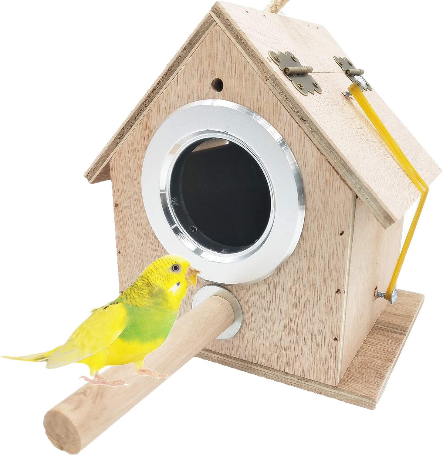 alfyng Parakeet Nest Box Bird Breeding N Wood Parrot low-pricing Max 84% OFF House