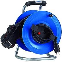 HEDI K360NTF Kabeltrommel Professional Plus 320 60m; DiagS Schwarz 250 V Thermoschutzschalter; Neopren Gummi Leitung H07RN-F 3G1,5 Blau