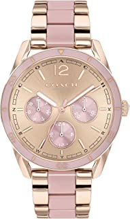 Coach Women'S Rose Gold Dial Ionic Rose Gold Plated Steel & Pink Abs Watch - 14503467
