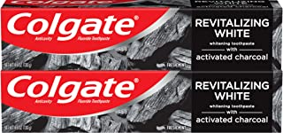 Colgate Activated Charcoal Toothpaste for Whitening Teeth with Fluoride, Natural Mint Flavor, Vegan - 4.6 ounce (2 Pack)