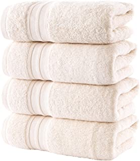 "Hammam Linen Premium Organic Turkish Cotton Hand Towels 6-Pack, 16""x28"", Sea Salt, Luxury Hotel & Spa"