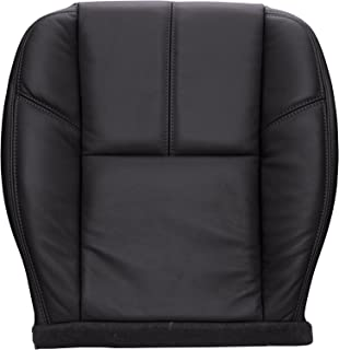 The Seat Shop Driver Side Bottom Replacement Seat Cover in Ebony (Black) Leather (Compatible with 2007-2013 Chevrolet Silverado, Avalanche and GMC Sierra 1500 New Body Style)