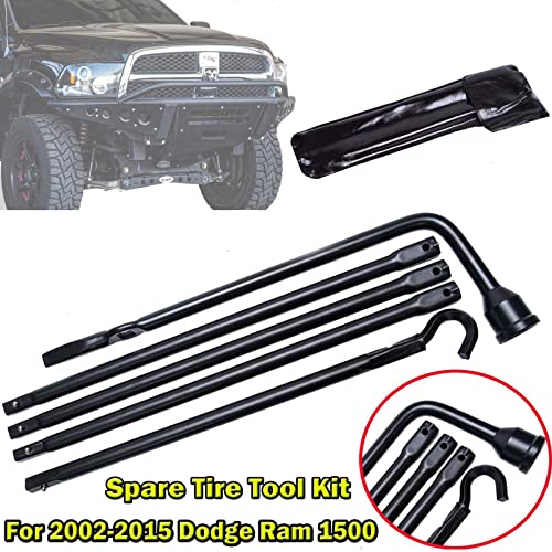 discount Bowoshen wholesale Spare Tire Lug sale Wrench Tool Kit for Dodge Ram 1500 Pickup Truck with Easy Carry & Storage Bag for Breakdown Emergency, 2 Years Warranty online sale