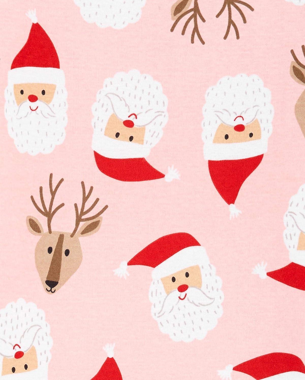 Carters Little Girls Holiday 2-Piece Snug Fit Cotton PJS