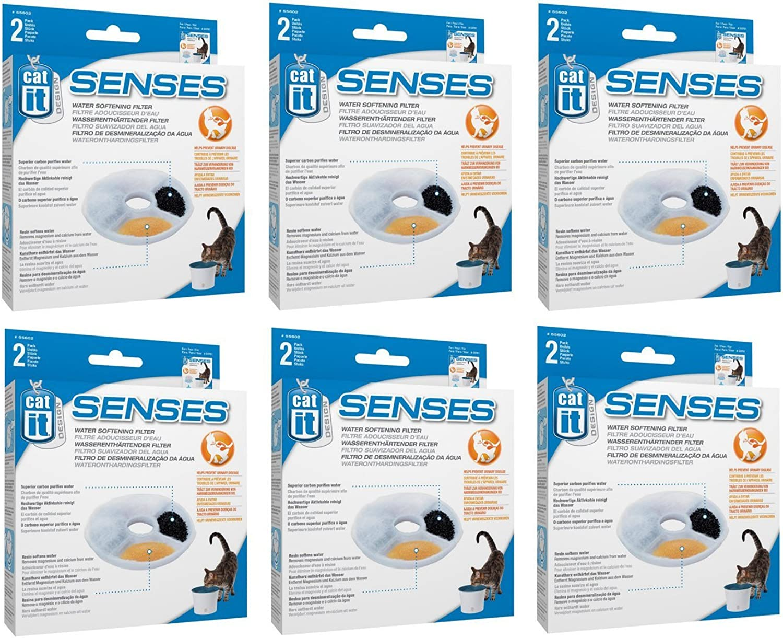 Catit Design Senses Replacement Water Filtering Cartridge, 2Pack (12Pack)