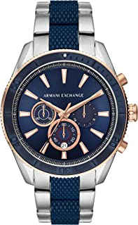 Armani Exchange Men's Chronograph Silver-Tone Stainless Steel Watch AX1819