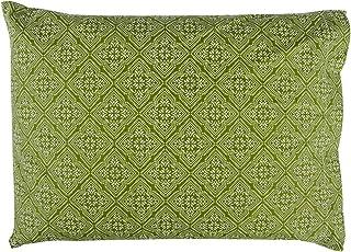 BSK Dream Herbal Almohada de Hierbas Hecha a Mano de Primera Calidad, Aprox. 35x50cm, Verde Salvia