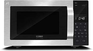 CASO TMG25 menu touch Design Mikrowelle im Wave Design 2in1 - Mikrowelle 900 Watt und Grill 1000 Watt, Innenraum aus Edelstahl, 25 Liter Garraum