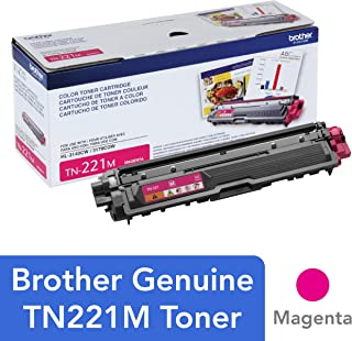 Brother Genuine Standard Yield Toner Cartridge, TN221M, Replacement Magenta Color Toner, Page Yield Up To 1,400 Pages, Amazon Dash Replenishment Cartridge, TN221