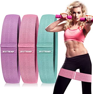 BESTTRENDY Resistance Bands for Legs and Butt,Exercise Bands Set Booty Bands Hip Bands Fabric Resistant Bands Wide Workout...