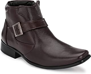 Steprite Men's Leather Zipper Boots
