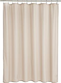 comprar comparacion AmazonBasics - Cortina de ducha de poliéster estilo Dobby, lino, 183 x 200 cm