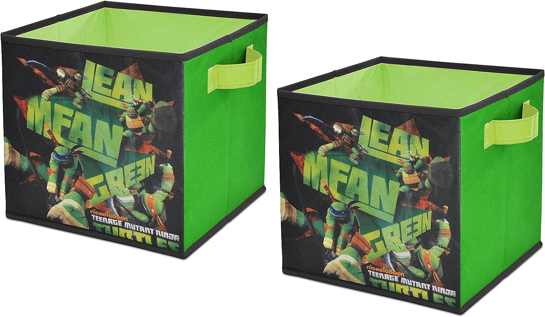 Nickelodeon  Teenage Mutant Ninja Turtles Storage Cubes, Set of 2, 10-Inch