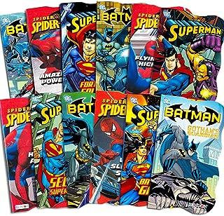 Superhero Board Books Ultimate Set Toddlers Kids -- 12 Shaped Board Books Featuring Batman, Superman, Spiderman and More