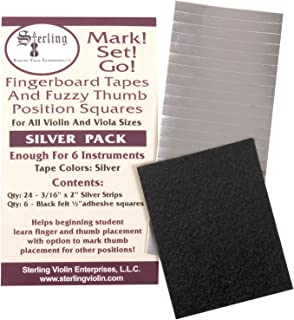 Mark! Set! Go! Instrument Fingerboard Tape: Silver Tape with Black Felt
