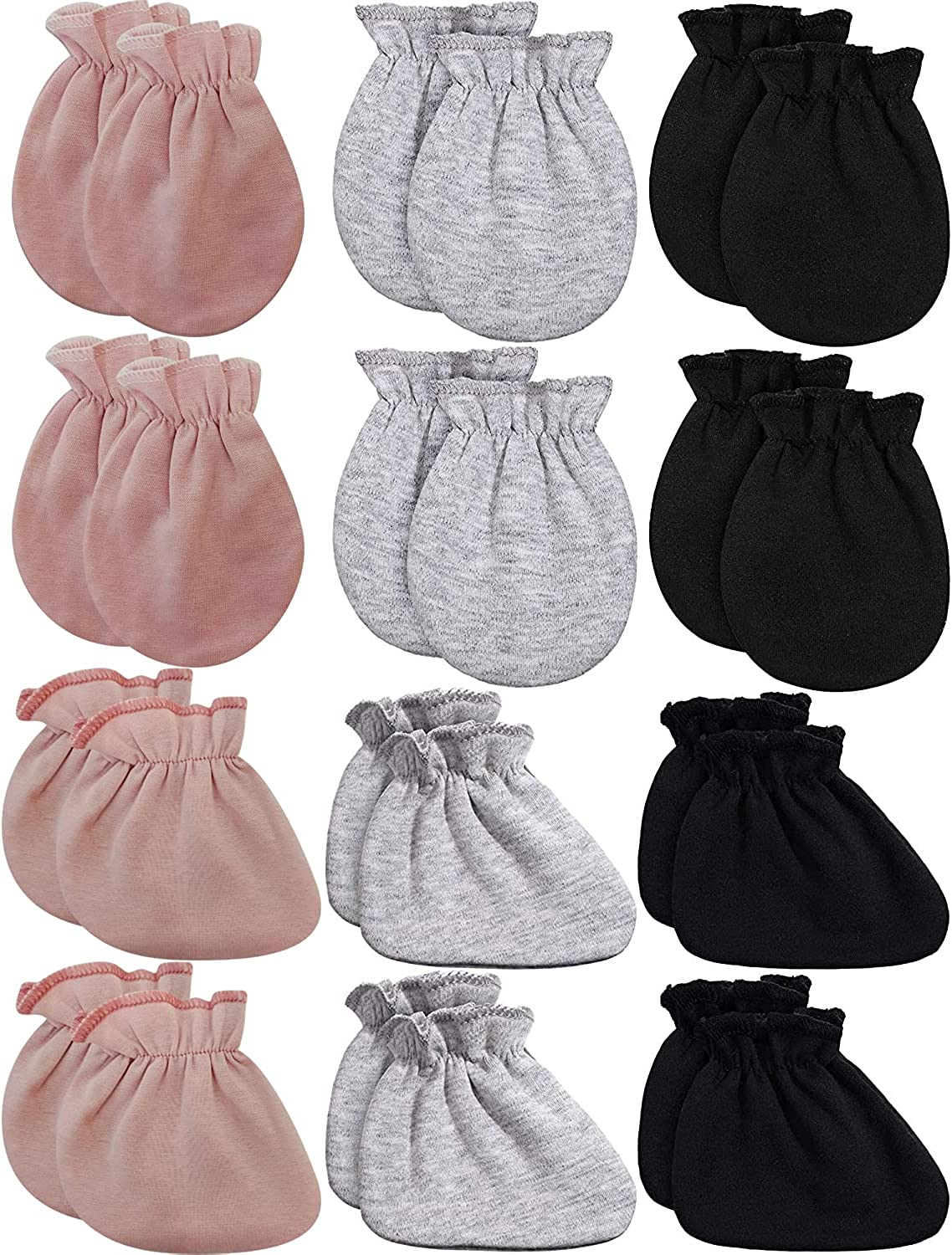 Newborn Infant baby Ankle Socks Mittens Set Cotton Cute Cozy Crew Sock Gloves for Baby Boy Girls 0-12 Months