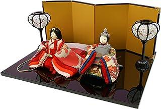 古布調古代雛飾り ちりめん 雛人形 ひな人形 つるし飾り特典付オリジナル雛人形 雛 ミニ コンパクト 雛飾り 初節句 雛まつり 龍虎堂 リュウコドウ