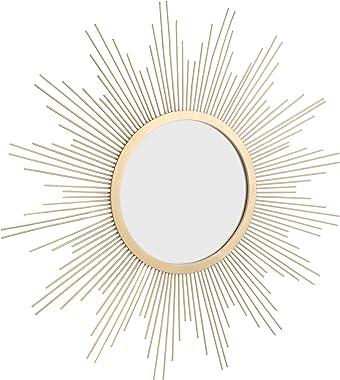 Stonebriar Sunburst Wall mirror, 24 Inch, Gold