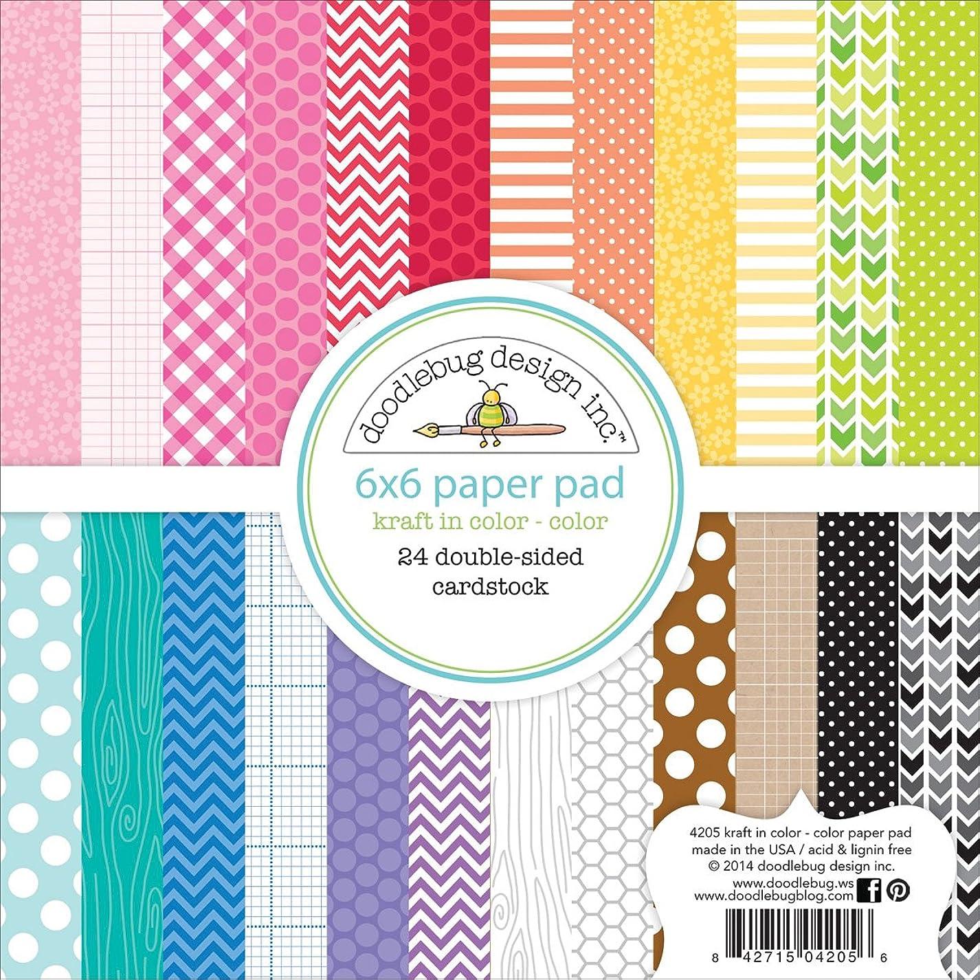 DOODLEBUG Kraft 24 Sheets Paper Pad, 6 by 6-Inch cnb560980717625