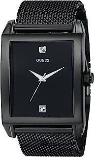 ساعة جيس مستطيلة الشكل مطلية بالأيونات السوداء اللون: أسود (الموديل: U0298G1)