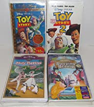 Walt Disney Four VHS Classic Movie Bundle Includes: Toy Story - Toy Story 2 - Mary Poppins - Sleeping Beauty
