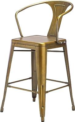 Peachy Amazon Com Design Tree Home Retro Cafe Tolix Marais Style Squirreltailoven Fun Painted Chair Ideas Images Squirreltailovenorg