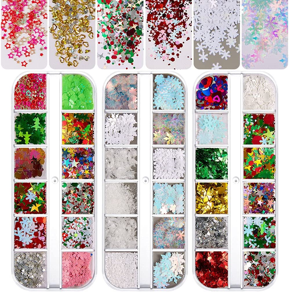yhengg Holographic Glitter Bombing new work Nails 2021 new Sequins Nail Multi S Colors Art