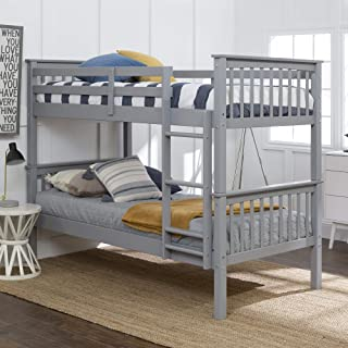 WE Furniture Twin Bunk Bed, Gray