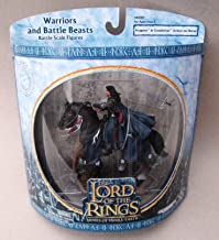 2003 - New Line / Play Along - Lord of the Rings : Armies of Middle Earth - Aragorn in Gondorian Armor on Horse - Warriors & Battle Beasts - Battle Scale Figures - Out of Production - Limited Edition - Collectible