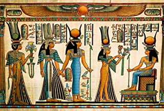 AOFOTO 10x7ft Ancient Egyptian Mural Backdrop Papyrus Hieroglyphics Totem Belief Religious History Culture Photography Background Egypt Theme Birthday Party Decoration Banner Photo Shoot Props Vinyl