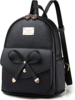 Women Mini Backpack Purse Leather Girls Cute Small Daypack Lightweight Fashion Casual Shoulder Bag
